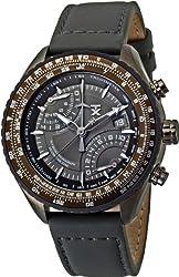 TX Men's T3C188 Pilot Fly-Back Chronograph Grey Case Dial Strap Watch