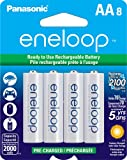 Panasonic BK-3MCCA8BA eneloop AA New 2100 Cycle Ni-MH Pre-Charged Rechargeable Batteries, 8 Pack