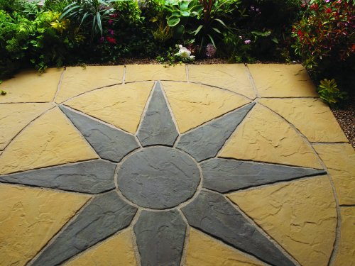 Midnight Star Circle Paving Stone from Buttercup Farm