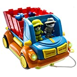 WolVol Musical Bump And Go Farm Truck Toy With Working Headlights, Includes Farm-People, Animals And