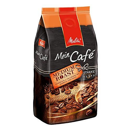 Ganze Kaffeebohnen, samtweich und vollmundig mit nussigen Anklängen, mittlerer Röstgrad, Stärke 3, Mein Café Medium Roast, 1000 g