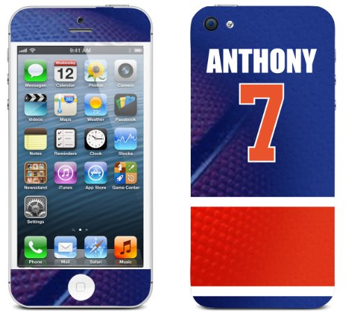 NBA Jersey Carmelo Anthony Skin Decal iPhone 5 get 2 FREE tattoo stickers