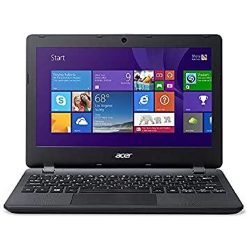 "Acer Aspire ES1-111 m-C8FQ-Portable 11,6"" Intel Celeron (N2840 2GB de RAM Disque dur SSD 32GB eMMC Intel HD Graphics Windows 8,1 avec mise à jour vers Windows 10 gratuite),-Teclado espagnol QWERTY-Noir"