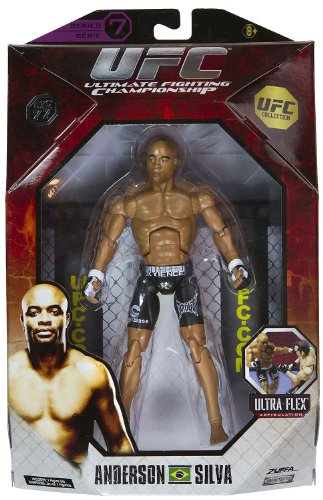 Buy Low Price Jakks Pacific Anderson Silva 7.25″ Figure: UFC Ultra-Flex Figure Collection Series #7 [UFC 77] (B004W0MYXA)
