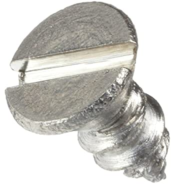 Stainless Steel Self Tapping Screw, Flat Head, Slotted Drive