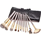Professional Wood Handle Makeup Brush Set 12 Piece& XFF0C;premium Synthetic Makeup Cosmetic& XFF0C;eyebrow Shadow...
