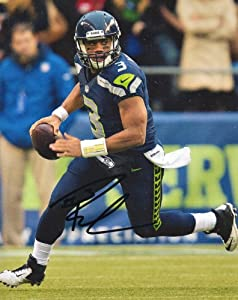Seattle Seahawks RUSSELL WILSON Signed Autographed 8x10 Photo COA by Football