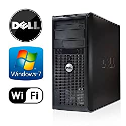 Workplace PC: Dell Optiplex 360 Tower - Intel Core 2 Duo 2.5GHz - 4GB RAM - NEW 1TB HDD - Windows 7 Pro 32-Bit - WiFi - DVD/CD-RW (Prepared by ReCircuit)
