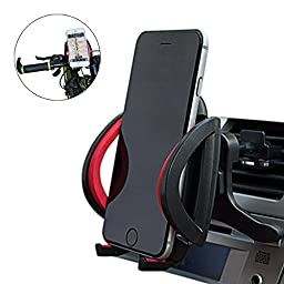 Bike & Car Cell Phone Mount - LSoug Bike Handlebars Cradle Mount, Car Holder for Any Smart Phone iPhone 6s /6 (+), 5s, 5, 5SE, Samsung Galaxy Note Nexus, Nokia Lumia, LG