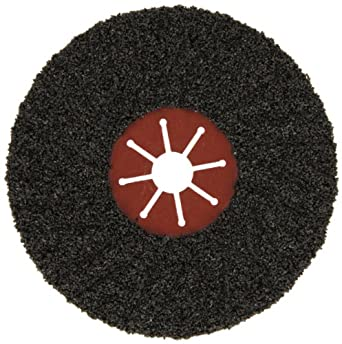 "Norton FastCut Type 27 Abrasive Disc, Fiber Backing, Silicon Carbide, 7"" Diameter, Grit 16  (Pack of 1)"