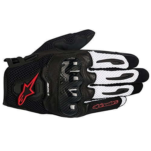 Alpinestars SMX-1 Air Mens Motorcycle Gloves - Black/White/Red - X-Large