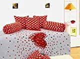 Salona Bichona Reactive Modern Red Diwan 6 Piece Set
