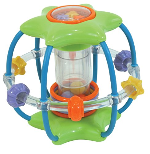 Stephan Baby Stellar Ball Activity Toy with Mirrors, Rattles and Squeakers