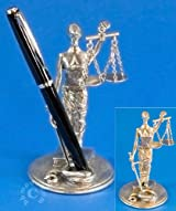 Scales of Justice Pen Holder - Desk Art by Jac Zagoory