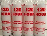 Lot of 4 - 120 Hour Emergency Survival Candles - Disaster Preparedness