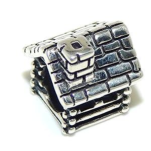 pro jewelry 925 sterling silver log cabin
