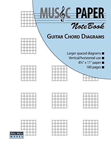 MUSIC PAPER NoteBook - Guitar Chord Diagrams (Diagram Notebook compare prices)