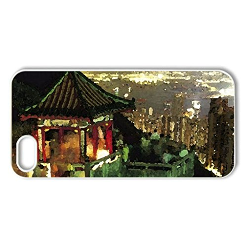 Party On Cliffs Overlooking Hong Kong - Case Cover For Iphone 5 And 5S (Watercolor Style, White)