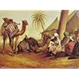 """Dolls Of India """"Merchants With Camels In The Desert"""" Reprint On Paper - Unframed (41.91 X 31.75 Centimeters)"""