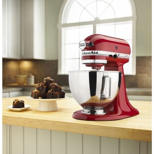KitchenAid Versatile Modern Style Stainless Steel Empire Red 4.5-Quart Ultra Power Series Tilt-Head Stand Mixer (Red Kitchenaid Microwave compare prices)