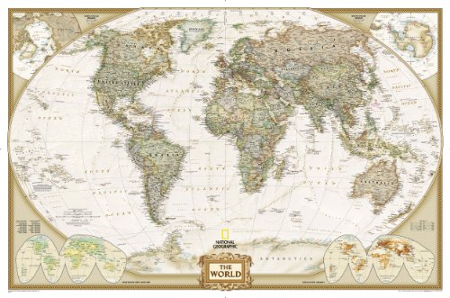 World Executive Wall Map Enlarged & Laminated (National Geographic) (World Maps S.)