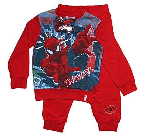 Spiderman Kollektion 2015 Schlafanzug 92 98 104 110 116 122 128 Jungen Pyjama Neu Lang Marvel Ultimate Amazing Rot (92 - 98)
