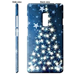 TheGiftKart Bright & Sparkling Christmas Tree Back Cover Case for OnePlus 2 - Blue