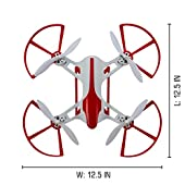 Hornet FPV Drone with HD Camera 720p - RC Quadcopter with Altitude Hold, Return Home, Headless Mode and Flip Mode (White & Red) - Includes Extra Batteries for Drone and Controller