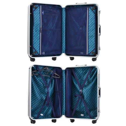 TRANS CONTINENTS スーツケース tc-0665-68 69.5cm (ガンメタリック)