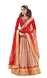 Dlines Red Embroidered Bridal Lehenga Choli