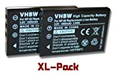 2 x vhbw battery set suitable for camera Toshiba PDR-T20, PDR-T30, PDR-5300, Camileo HD, H10, H20, Pro, P10, P30 HD Pro, S10 pro & NP-60, PDR-BT3