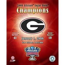 Georgia 2007 Allstate Sugar Bowl Champions Composite Sports Photo (8 x 10)