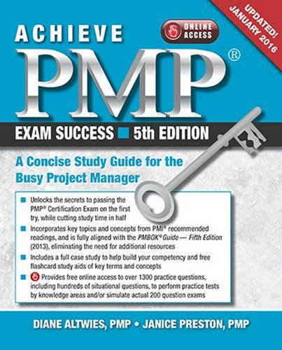 Achieve PMP Exam Success: A Concise Study Guide for the Busy Project Manager, Updated January 2016 (Diane Preston compare prices)