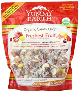 YumEarth Organic Candy Drops, Freshest Fruit, 13 Ounce Bag (Pack of 4)
