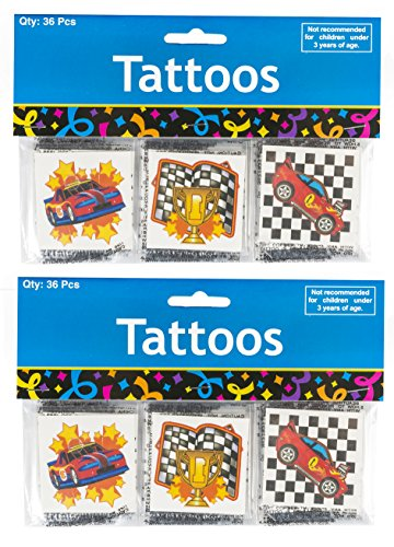 Racing Tattoo Assortment 72 per pack