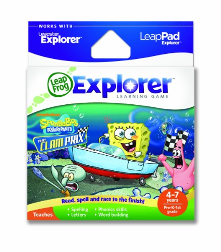LeapFrog Explorer Learning Game: SpongeBob SquarePants: The Clam Prix (works with LeapPad & Leapster Explorer)
