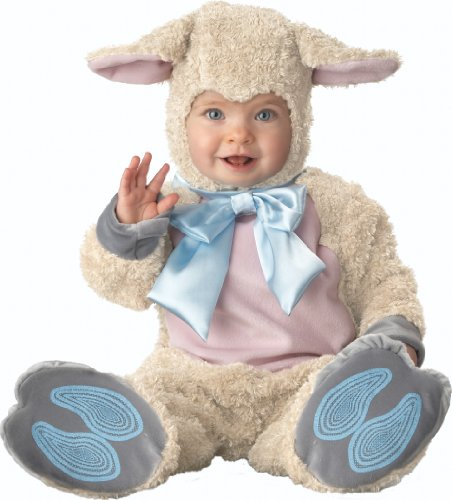 InCharacter Infant Lamb Costume, Off White/Pink/Light Blue