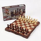 アンティーク チェス マグネット 木製 ボードを折りたたむと収納可能 【オリジナル簡易説明書付き】 Sサイズ(21×24センチ)