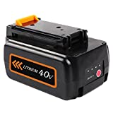 Enegitech 40V MAX 2.0Ah for Black & Decker LBXR36, Lithium Ion Battery Pack for B & D Cordless Power Tools