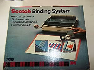 Scotch(TM), Binding System, 7890, Contains 1 C-78 Binding Machine, 25 Scotch System Covers, Rainbow Pack, 1 Roll Binding System Tape White, 1 Roll Binding System Tape Black