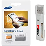 Samsung Evo 128GB MicroSD XC Ultra UHS-1 Class 10 Memory Card For Samsung Galaxy Tab A E S2 9.7 8.0 Inch A8 J5 Xcover 3 J1 Core Prime Note Edge 4 With MemoryMarket MicroSD & SD Memory Card Reader