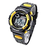 SYNOKE Unisex Kids Student Watches Fashion Sports Watches with Alarm Chronograph Long lasting battery Calendar Noctilucen Wristband Digital Watches (Orange)