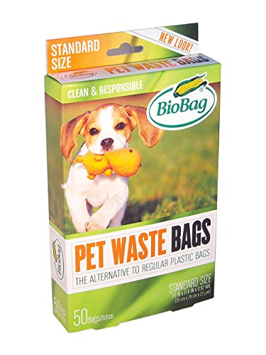 BioBag Dog Waste Bags, Alternative to Plastic Bags, 50-Count