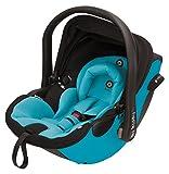 kiddy 41940EL024 Evoluna i-Size Babyschale inklusiv ISOFIX Base mit patentierter KLF-Liegefunktion, Hawaii - Türkis