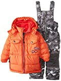 Rugged Bear Baby Boys' Solid Patch Pocket Snowsuit