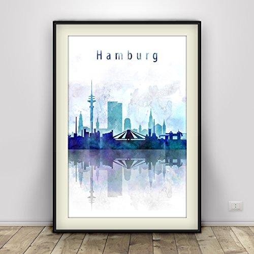 hamburg-print-two-color-hamburg-watercolor-poster-home-interior-cabinet-wall-decor-deutschland-skyli