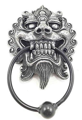 Far east oriental ryujin japanese dragon door knocker figurine resin with metal hardware - Dragon door knockers for sale ...