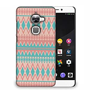 Snoogg Light pink and blue aztec Designer Protective Back Case Cover For Samsung Galaxy J1