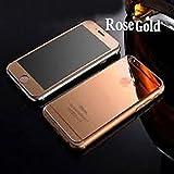 【ELEEJE】 iphone6 / 6s 極鏡面 バンパー+表裏2枚 パネル式 アルミケース (iPhone 6 / 6s, ローズゴールド)