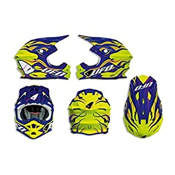 Casque Ufo Interceptor Bleu/Jaune T.S 55-56 - 433082S - Casque moto Off Road UFO